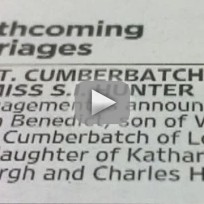 Sophie hunter and benedict cumberbatch engaged