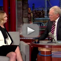 Jennifer lawrence and david letterman sing