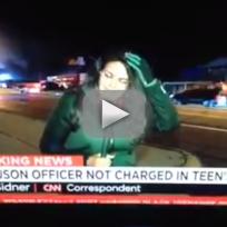 Cnn reporter hit by rock in ferguson
