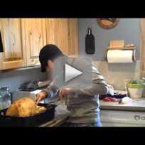 Pregnant turkey prank