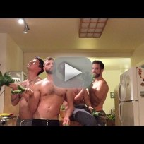 Men recreate beyonce music video