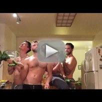 Men recreate beyonce music video