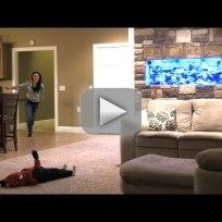 Husband pranks wife pretends to kill child