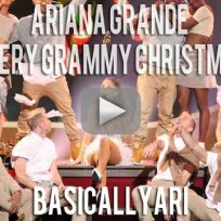 Ariana grande santa tell me a very grammy christmas