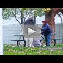 Homeless man receives spends 100 dollars