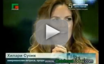 Hilary Swank Greets President of Chechnya