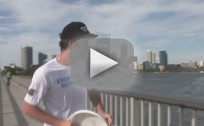 Insane Speedboat Frisbee Catch