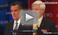 New Hampshire GOP Debate - Mitt Romney vs. Newt Gingrich