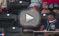 Padres Fan Hit By Foul Ball