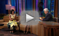Gabby Douglas and Michelle Obama on the Tonight Show