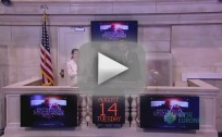 Robert Pattinson at New York Stock Exchange
