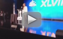 Beyonce Sings National Anthem at Press Conference