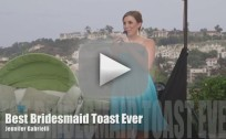 Maid of Honor Raps Amazing Toast