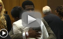 Usher Enters Courtroom