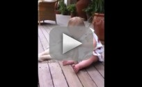Puppy Plays with Baby