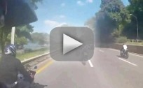 Bikers Attack SUV