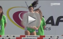 Michelle Jenneke Warming Up