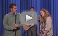 Adam Sandler, Drew Barrymore on The Tonight Show