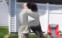 Dogs Greet Military Owners, Go CRAZY