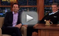 Jon Hamm Laughs at Himself on Late Late Show
