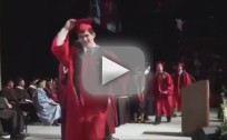 Davenport University Student Backflips at Graduation