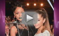 Rihanna Laughs at Ariana Grande