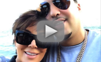 Kris Jenner and French Montana