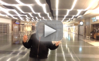 "Man Films ""All By Myself"" Video at Las Vegas Airport"