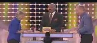Steve harvey on family feud pass the