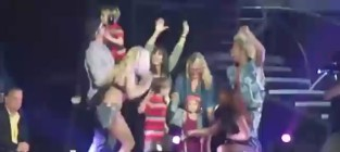 Britney spears family on stage