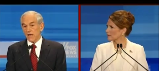 Gop debate paul vs bachmann