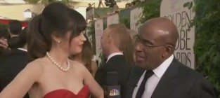 Zooey deschanel at golden globes