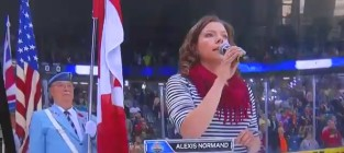 Alexis normand national anthem attempt