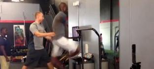 Chad johnson treadmill sprint