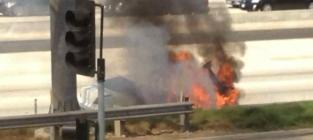 Dick van dyke rescued from flaming car