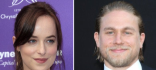 Charlie hunnam dakota johnson to star in fifty shades of grey