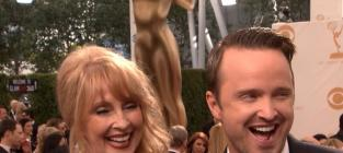 Aaron paul mom at the emmys