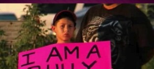 Dad shames son with anti bullying sign