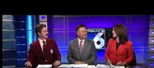 Paul gerke does the sports as ron burgundy