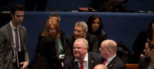 Rob ford knocks over city council member