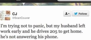 Woman unknowingly live tweets husbands fatal car crash