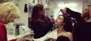 Emmy Rossum Spoofs Gisele Bundchen Breastfeeding