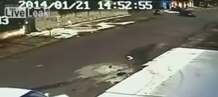Kid gets hit by car emerges unharmed