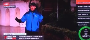 Weatherman knees crazy college kid