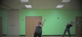 Whitney thore a fat girl dancing