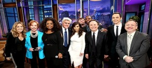 Stars sing farewell to jay leno