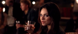 Mila kunis jim beam commercial