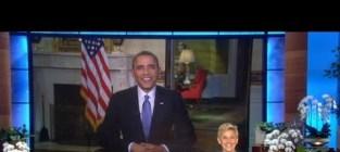 President obama on ellen