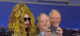 Lady Gaga and Bill Murray on David Letterman