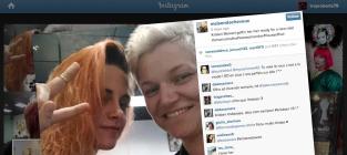 Kristen stewarts orange hair
